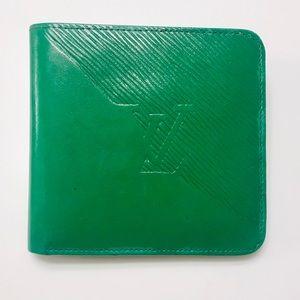 LOUIS VUITTON Green Epi Marco Wallet